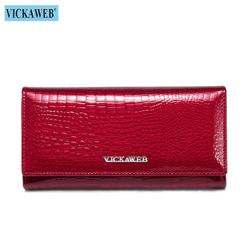 Alligator Patent Leather Women's Wallet Bags and Wallets New Arrivals Women's Wallets Color: New Red Ships From: Russian Federation