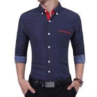 Brand 2017 Fashion Male Shirt Long Sleeves High Quality Cotton Dots Polka Oversize Mens Dress Shirts