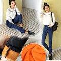 Осень и зима теплая синий высокой талией тонкий джинсы жира сестра сексуальная стрейч джинсы узкие джинсы женщина Хлопок Джинсы Свободные женщины XL 5XL