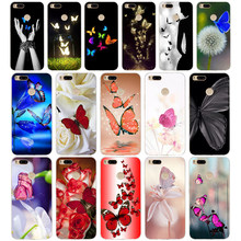 231WE Red butterfly on white roses Soft Silicone Tpu Cover phone Case for xiaomi redmi 4A 4X note 4 4x mi A1 A2 lite(China)