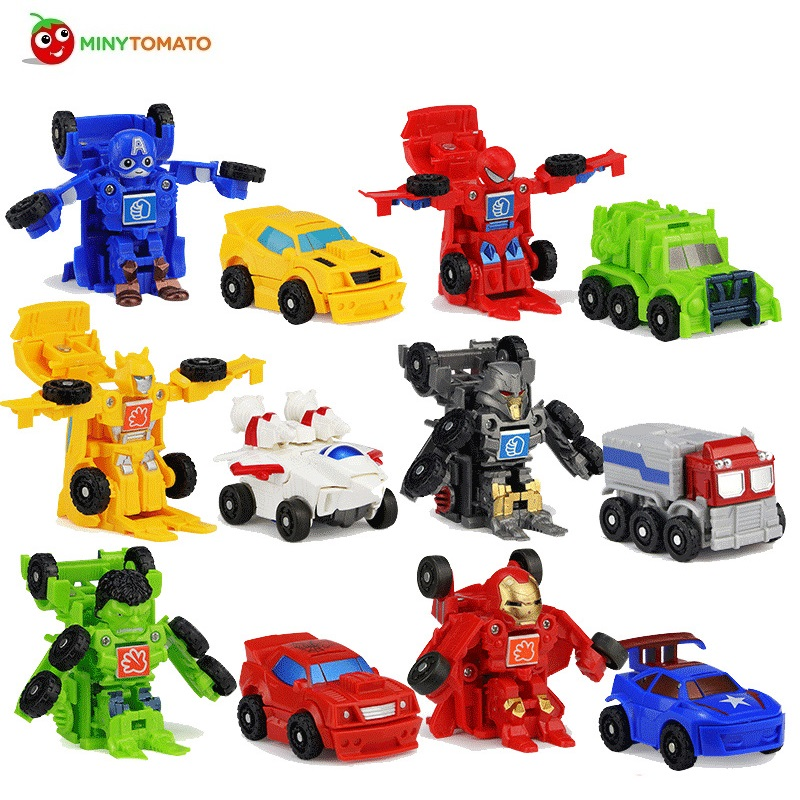 New Funny 8cm Mini Crash Transformation Classic Transformation Plastic Robot Cars Action & Toy Figures Kids Education Toy Gifts new arrival mini classic transformation plastic robot cars action figure toys children educational puzzle toy gifts