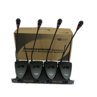 Professional Wireless meeting microphone Four Gooseneck Conference microphone system Free shipping