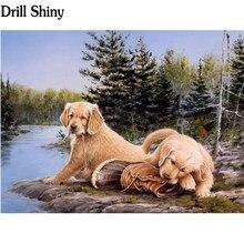 Ping Mei Park Diamond Embroidery Naughty Dog D Diy Diamond Painting Cross Stitch Diamond Mosaic Crafts Sticker Fc