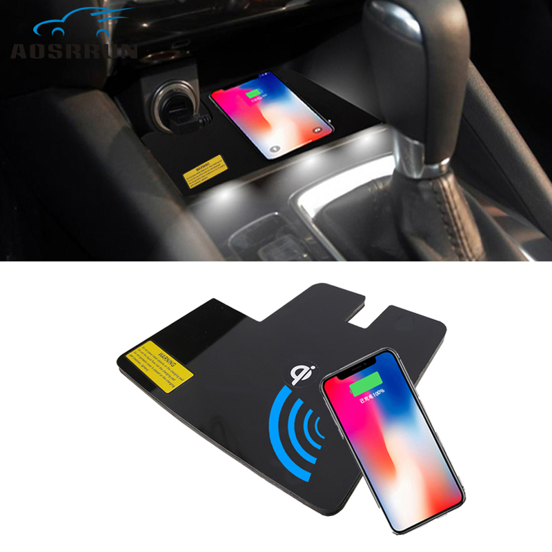 Special on board QI Phone wireless charging Pad Panel font b Car b font Accessories For