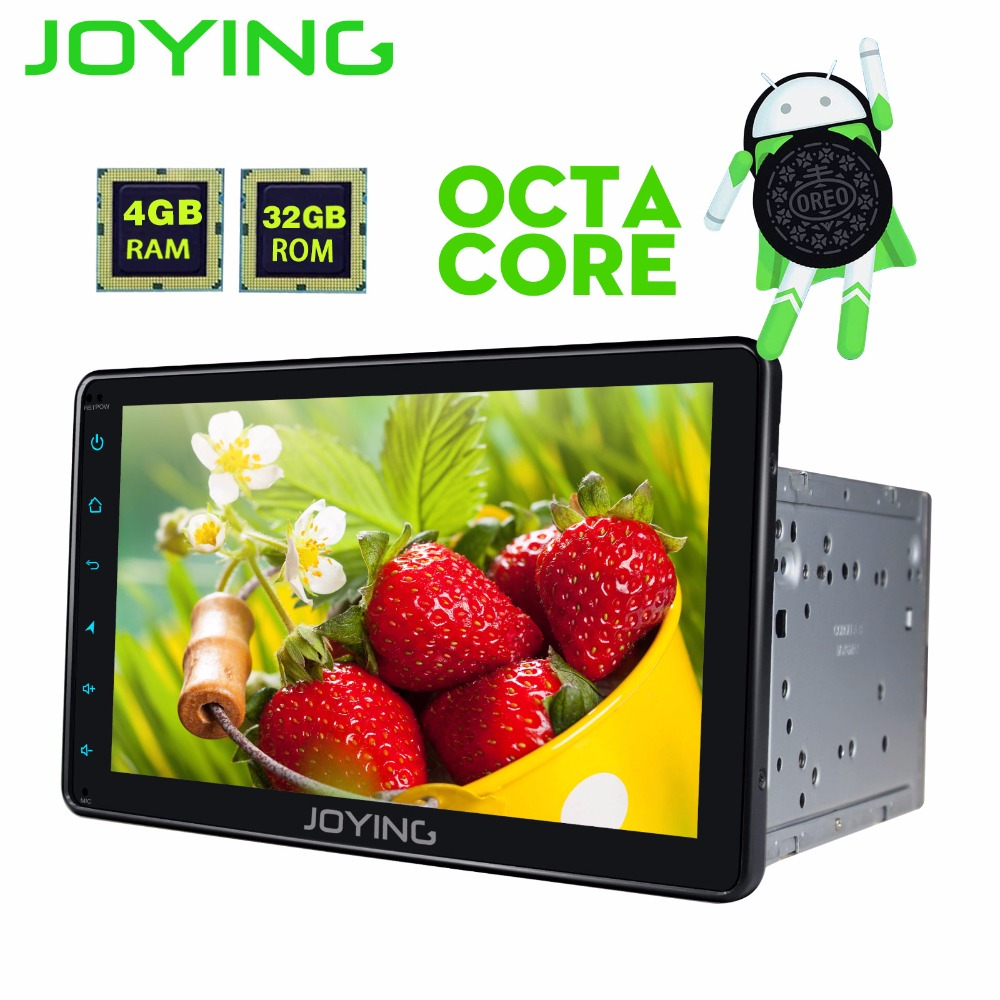 JOYING radio doble din 4GB RAM 2din car radio GPS Android 8.0 HD 8 inch touchscreen stereo BT Navi for Toyota corolla/rav4/prado