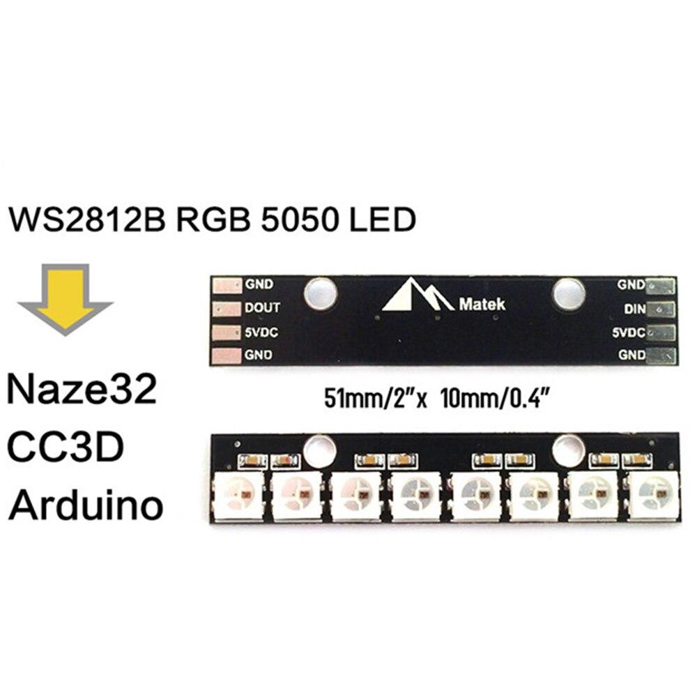 Матек 8 укусов 5 В WS2812B RGB 5050 <font><b>LED</b></font> доска для FPV-системы RC MultiCopter Racing <font><b>Drone</b></font> Quadcopter cc3d naze32