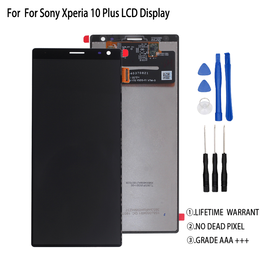 Original For Sony Xperia 10 Plus LCD Display Touch Screen Digitizer For Sony Xperia 10 Plus Display Screen LCD Free Tools