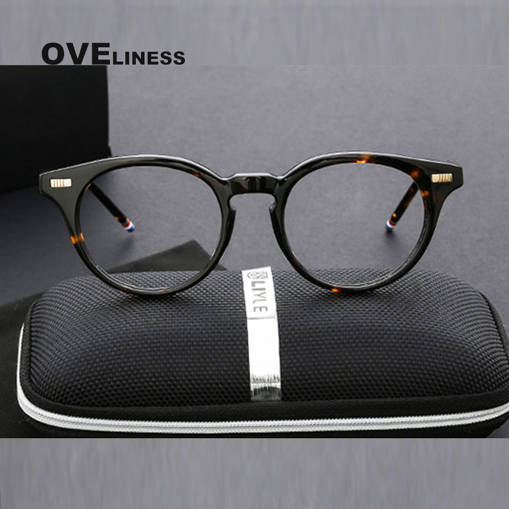 prescription eyewear optical glasses frames men New designer vintage clear glasses oval eyeglasses high quality spectacles