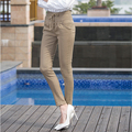 2016 New Spring Summer Korean Fashion Women Slim Stretch Harem Pants Woman Plus Size Drawstring Casual Trousers for Women T6212