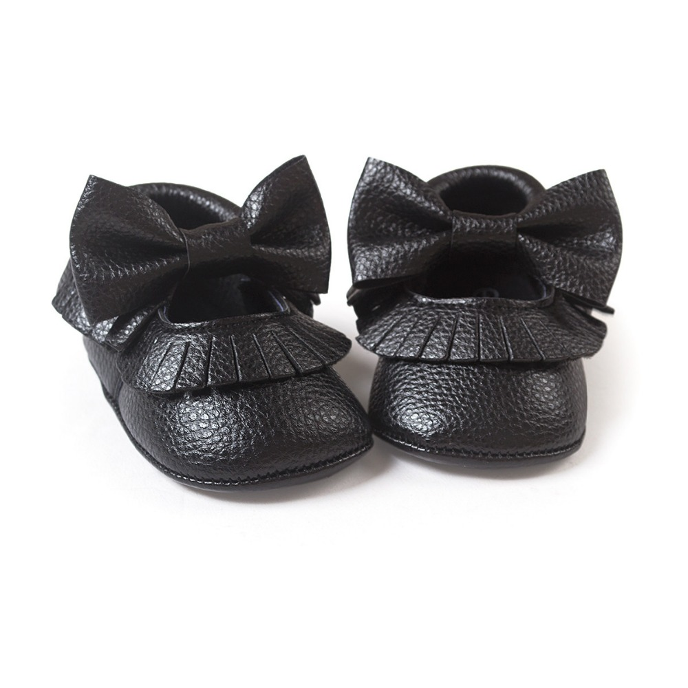 black color baby girls boys butterfly knot sneakers shoes baby first walkers newborn infantil bebe shoes