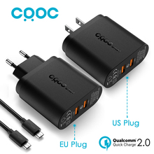 CRDC USB Wall Charger with Dual Quick Charge 2.0 QC 2.0 36W Turbo Fast Charger for Samsung Galaxy S7S6 Edge LG &More, Aukey Made