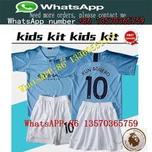 ba6b02a93 kids kits 2018 2018 Manchester City MAHREZ KUN AGUERO DZEKO soccer Jersey  18 19 TOURE YAYA