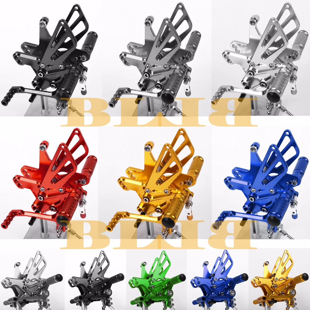 8 Colors CNC Rearsets For Kawasaki ZX6R ZX636 1998 - 2002 Rear Set Motorcycle Adjustable Foot Stakes Pegs Pedal 2001 2000 1999 morais r the hundred foot journey