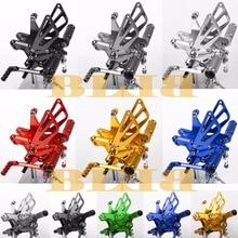 8 Colores CNC Estriberas Para Kawasaki ZX6R ZX636 1998-2002 Motocicleta Juego posterior Ajustable Pie Estacas Clavijas Pedal 2001 2000 1999