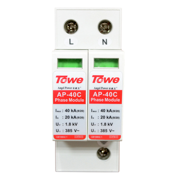 TOWE AP 40C 2P 20kA three phase surge protective device over voltage protector 2p surge protective device dc photovoltaic lightning protector low voltage arrester