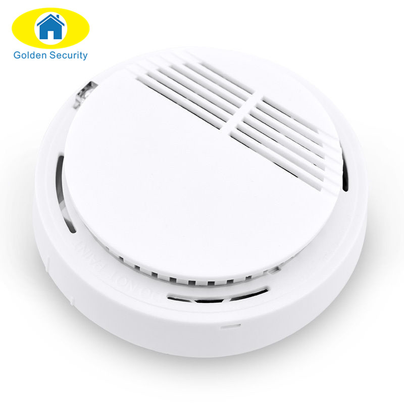 Golden Security High Sensitivity Smart Photoelectric Home Security RT Independent Fire Smoke Alarm Wireless Detector/Sensor yobangsecurity high sensitivity photoelectric smoke detector fire alarm sensor for home security independent smoke sensor white