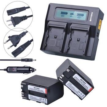 Batmax 2pc 8400mAh BP-970G BP 970G BP-975 Camera Battery+LCD Rapid Dual Charger for Canon XLH1 XHG1 XHA1 XL2 XM2 XH G1S XF305