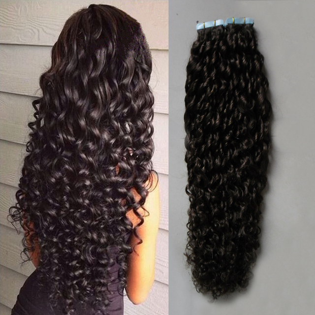 Unprocessed brazilian curly hai human tape hair extensions 100g unprocessed brazilian curly hai human tape hair extensions 100g apply tape adhesive skin weft curly tape pmusecretfo Gallery