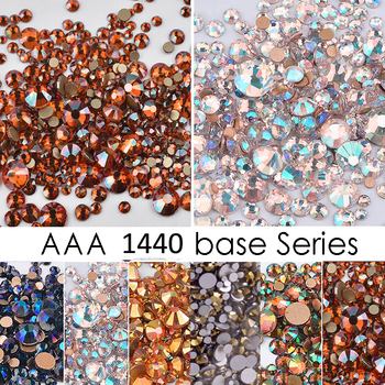 1440pcs /1pack crystal Nail Rhinestones For Nails Art Decorations AB gem Mixed Size (SS6-SS20) Crystal Rhinestone,RKL55