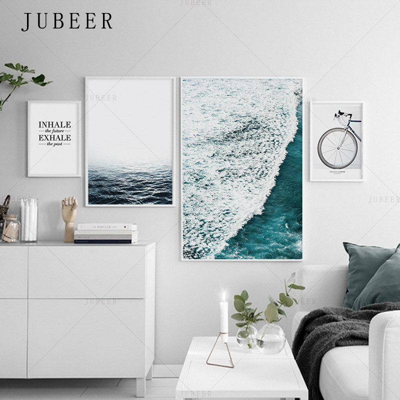 Wave, Prints, Canvas, For, Style, Living