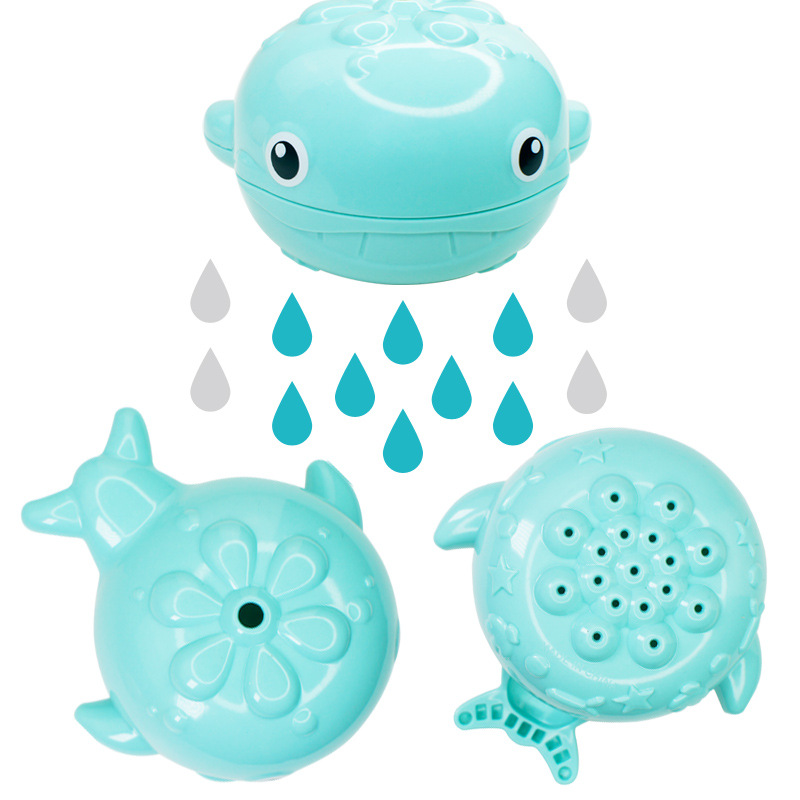1PCS Baby Bath Toys Rain Whale Design Baby Shower Toy Sprinkler Toys Kids Float Water Tub Rubber Bathroom Play Animals baby toys