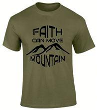 Faith Can Move Mountain Trust Jesus Christian Gospel Scriptures Men T Shirt  Free shipping Tops Fashion Classic Unique gift
