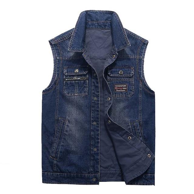 Nouvelle Veste Manches Jeans Hommes Automne Marque Gilet Hiver Sans v0xqq5I8w
