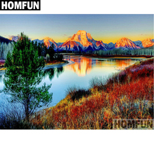 HOMFUN Full Square/Round Drill 5D DIY Diamond Painting Lake scenery Embroidery Cross Stitch 5D Home Decor Gift A06395 homfun full square round drill 5d diy diamond painting deer scenery embroidery cross stitch 5d home decor gift a18124