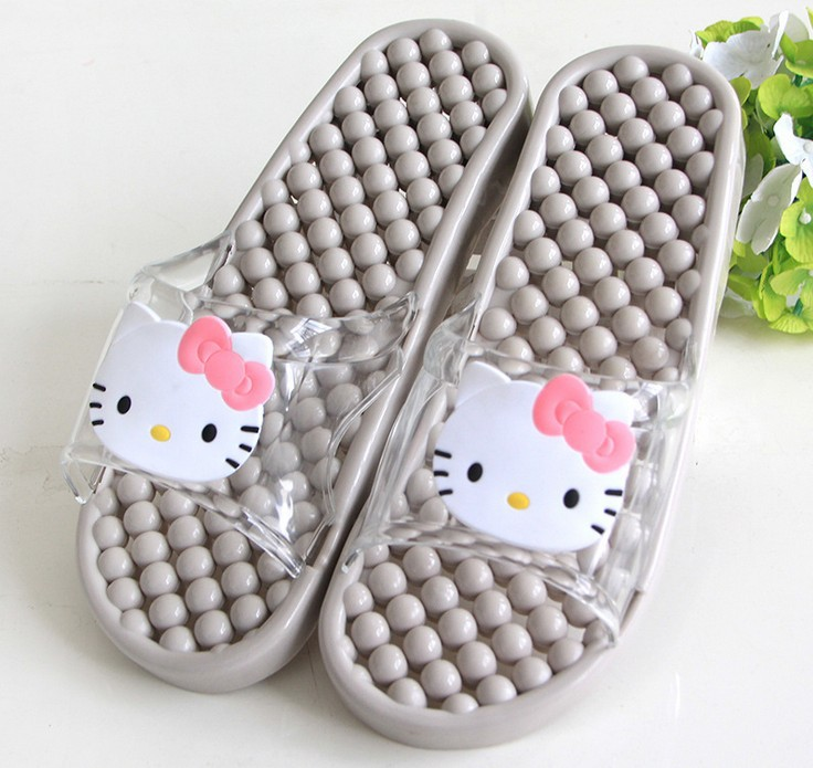 Bathroom Slippers Men Women Hello Kitty Cartoon Mage Non Slip At Home Flip Flops Pantoufle Chaussure Femme In From Shoes On
