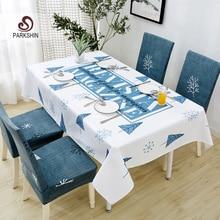 Parkshin 2019 venta al por mayor mantel nórdico impermeable hogar cocina rectangular manteles fiesta banquete comedor cubierta 4 tamaños