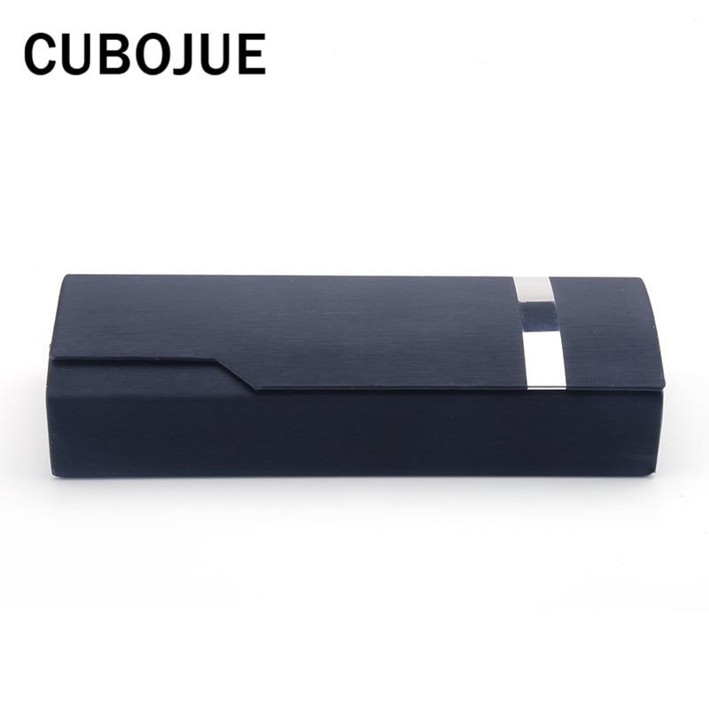 Cubojue Noir Solide Étui à Lunettes Petit Stockage des Lunettes De Soleil Lunettes Lunettes Dur Boîtes Qualité Hommes Femmes De Mode En Gros