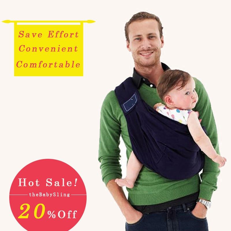 2017 Ergonomic Infant Slings Baby Carrier Slings Wrap Baby Backpack Carrier High Quality 100% Organic Cotton Kids Kangaroo