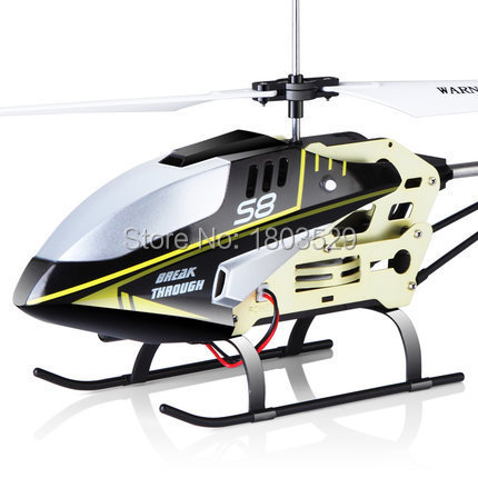 Free shipping Hot Sell New Product S8 3CH RC Remote Control Helicopter electric with Gryo Searching