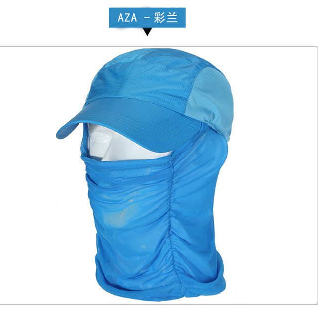 626c4685bde22 Multi-functional anti-mosquito hat 360 degree sun protection neck climbing  hood breathable speed dry jungle hat multi-color sun