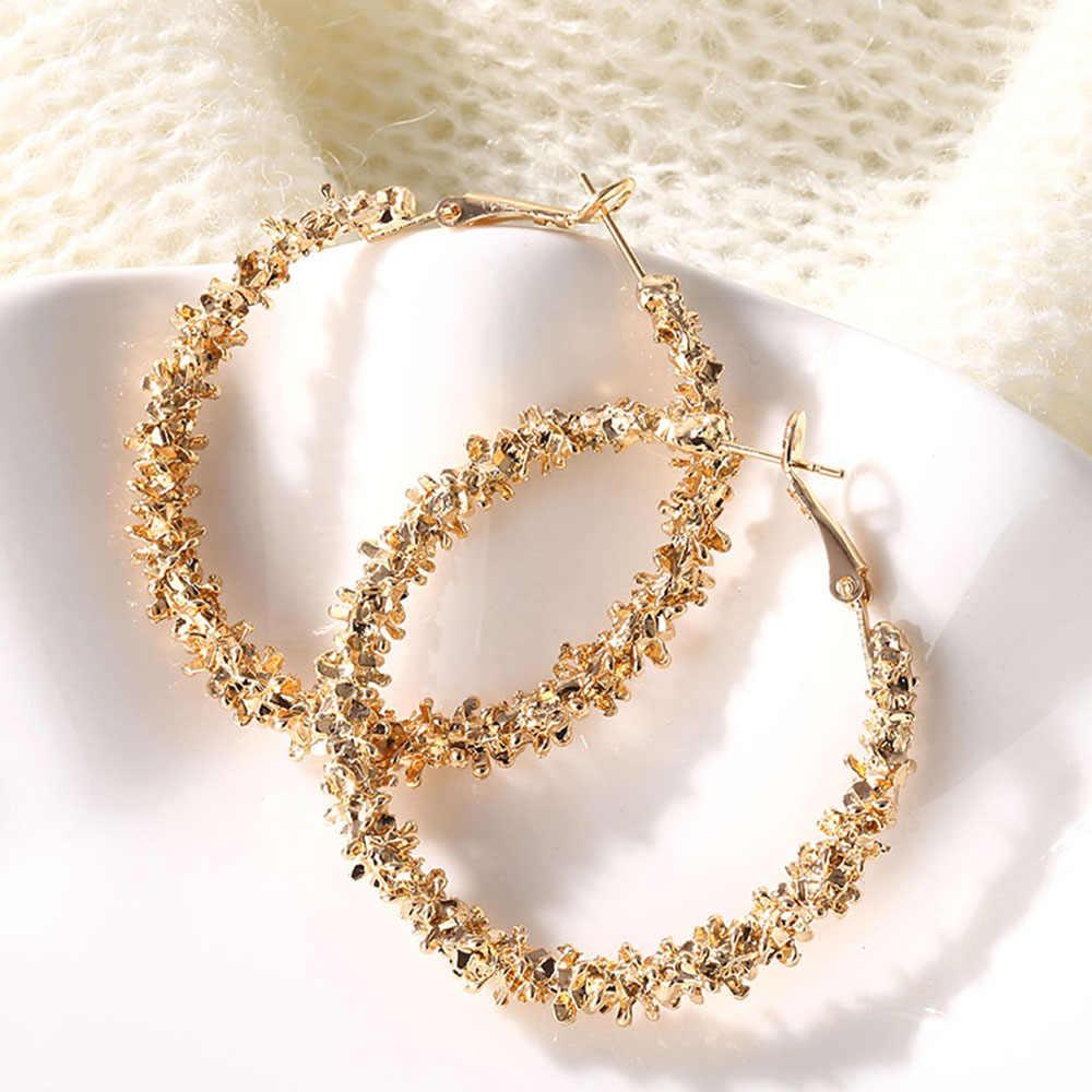 IPARAM 2020 חדש גדול מעגל עגול עגילי חישוק לנשים של אופנה הצהרת זהב פאנק קסם עגילי המפלגה תכשיטים