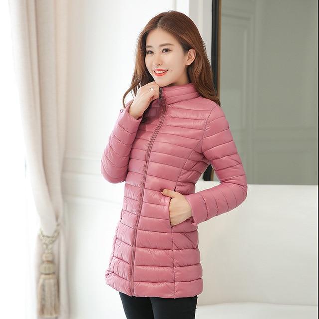 Parka Jacket Women Plus Size Clothing 4XL Spring Autumn Winter Coat Manteaux Femme Made Of Goose Feather Parka Pink Black 2018 3