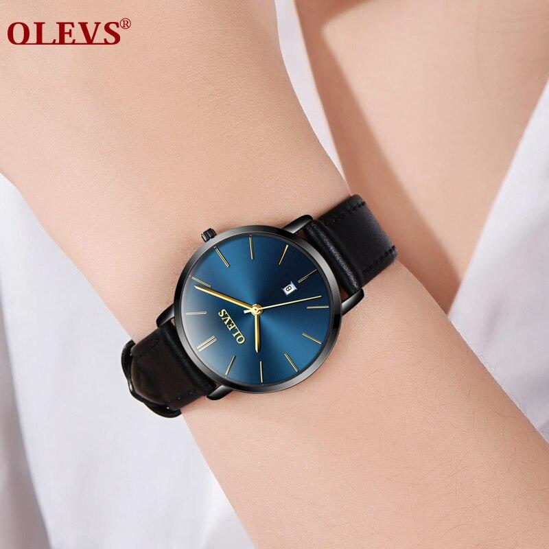 2018 OLEVS אופנה נשים תאריך אוטומטי שעונים - שעונים לנשים