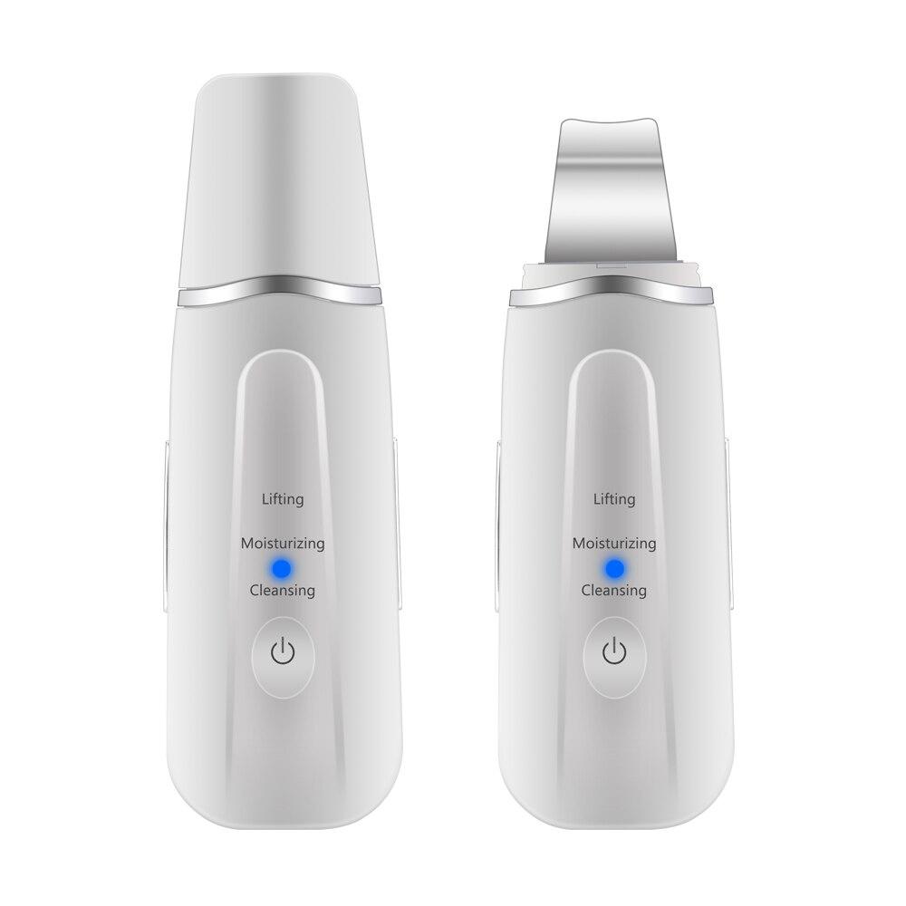 Herramientas de limpiador de poros exfoliantes para limpieza facial ultrasónica recargable