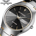 Original GUANQIN Brand Men Watch Tungsten Steel Men Clock Waterproof Wristwatches Sapphire Quartz Watch Relogio Masculino Reloj