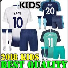 d9854049c 2018 2019 boy child kids kit Tottenhames Soccer Jersey Child KANE LAMELA  JANSSEN DEMBELE Son SPURS Football third Shirts KIDS