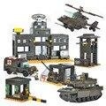 Sistema de Defensa Aérea de Helicópteros de Serie Militar Del Ejército de Tanques Pesados Sluban Construcción Building Blocks Ladrillos Compatible Con Legoe