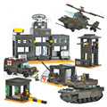 Sluban Military Series Army Heavy Tank Helicopters Air Defense System Construction  Building Blocks Bricks Compatible With Legoe