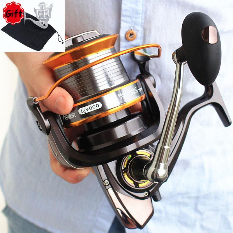 Spinning Fishing Reel 10+1 Ball Bearing Metal Spool Large Arm Left Right 4.6:1