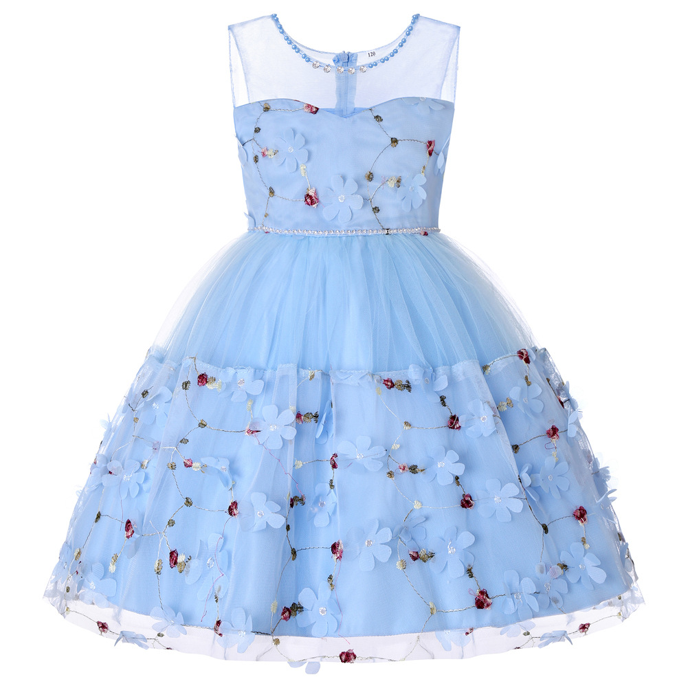 New Princess Girl Dress for Evening Prom Party Dress Teenage Girls Kids Wedding Birthday Gown 3-14 Years Girl Clothes CA618