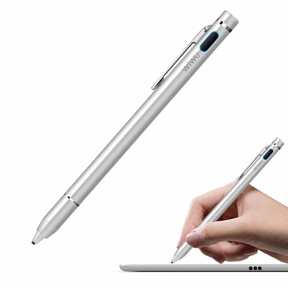WIWU Tablet Universal Caneta de Toque para Samsung Tablet Stylus Caneta de Toque para o iPad Pro Telefone Móvel Stylus Caneta de Alta Precisão para o iPad