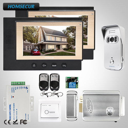 HOMSECUR 7 Video&Audio Home Intercom with Dual-way Intercom for House/Flat(TC021-S+TM701-B)