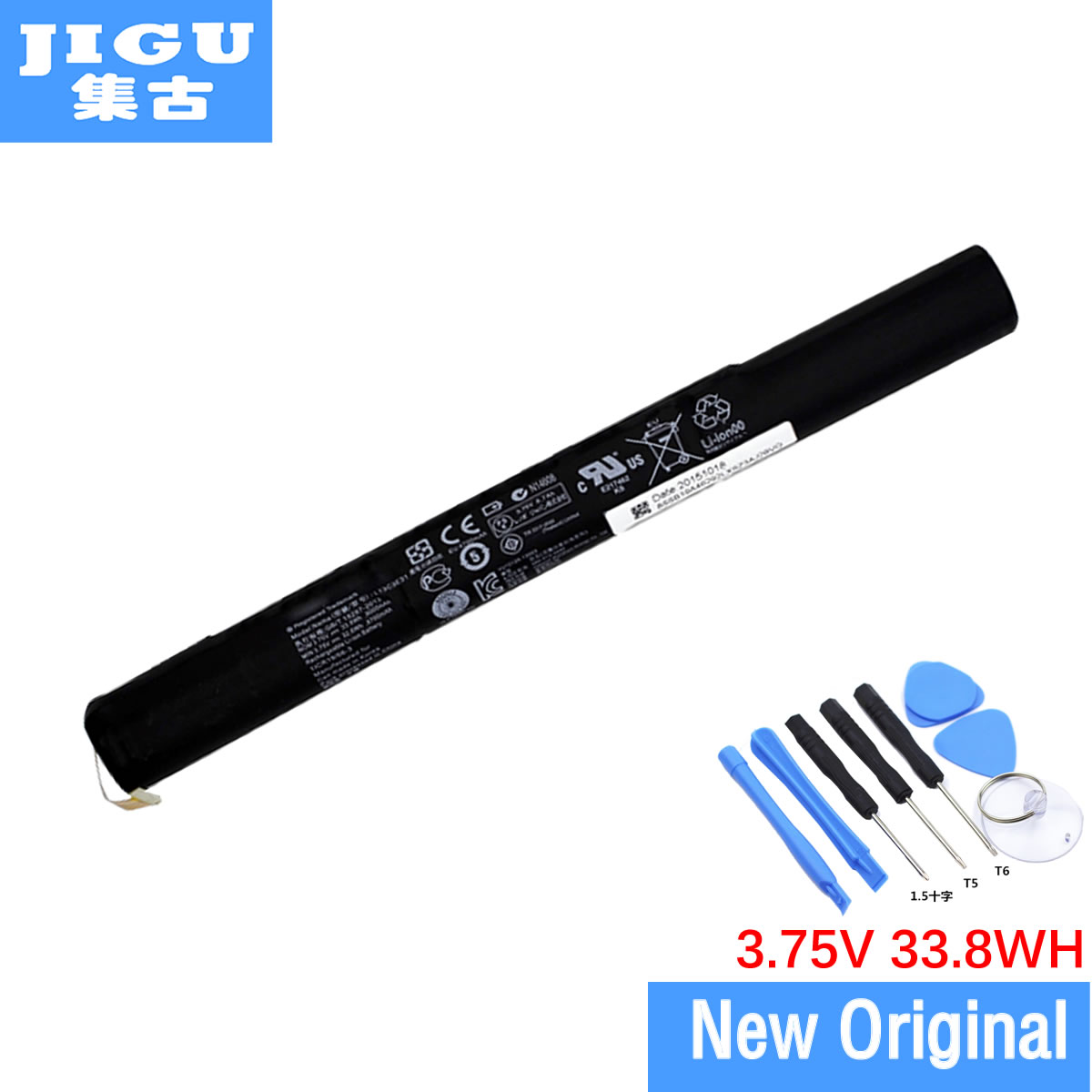 JIGU 3.75V 9000mAh New L13D3E31 Laptop Battery For LENOVO YOGA 10 B8000 B8080 Series Tablet L13C3E31 L13D3E31 Free Shipping