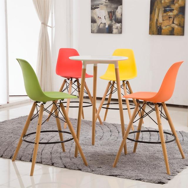 modernes design kunststoff und massivholz küche zimmer barhocker ... - Hocker Für Küche
