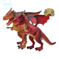 Electric Toy Robot Sound Dinosaur Wings Light Jurassic Moving Animal Christmas Gift Toys for Children Kid Boys Animals Interes