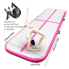 2019 New Airtrack 3m 4m 5m Inflatable Air Tumble Track Olympics Gym Mat Yoga Inflatable Air Gym Air Track Home use On Sale цены